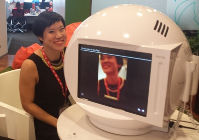 Trying out the Ioma Sphere ... all smiles before the sobering news