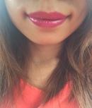 Founder Lili sporting Priscilla lip gloss