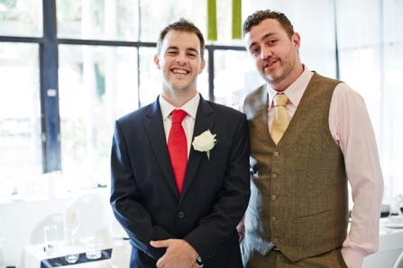 So the groom and his best man made it to the wedding on time ...