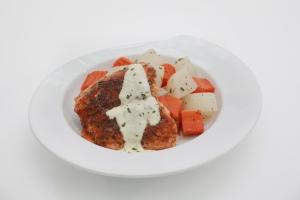 Grilled Salmon Cajun, 443 kcal.