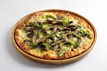 Flatbread with Mushroom and Truffle Oil