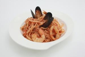 Seafood Spaghetti, 376kcal.