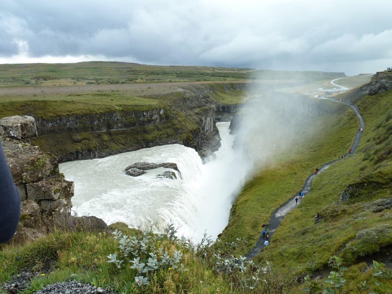 The majestic Gulfoss waterfall