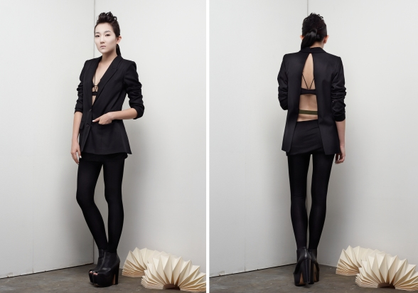 Local brand Stolen, famous for their signature backless outfits